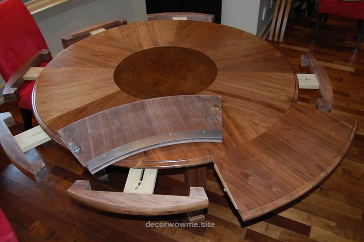 How To Select Large Round Dining Table Expanding Round Dining