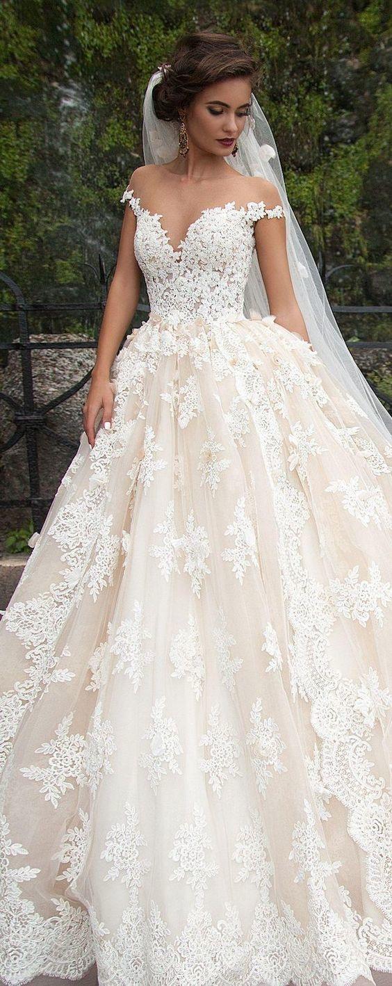 White Lace Wedding Dress Bridal
