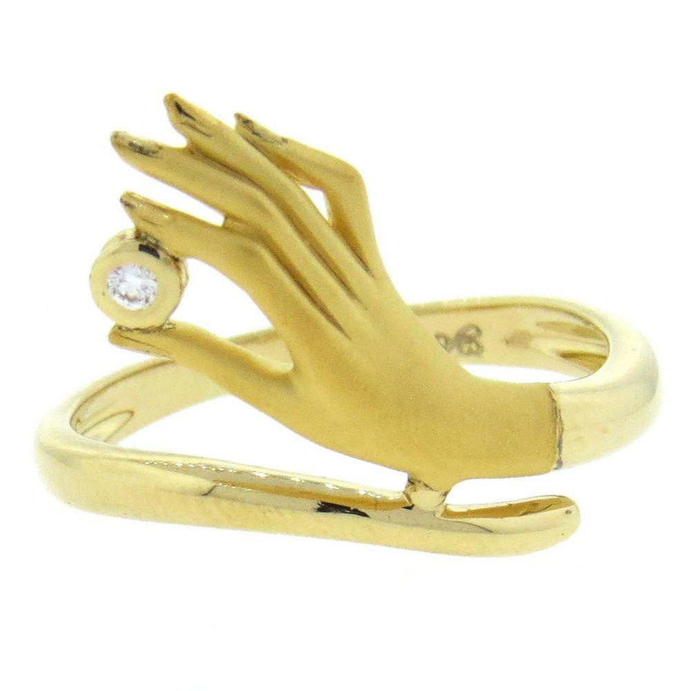 Carrera Y Carrera Bonadea Diamond 18k Gold Hand Ring Gold Hand Ring Hand Ring Hand Jewelry