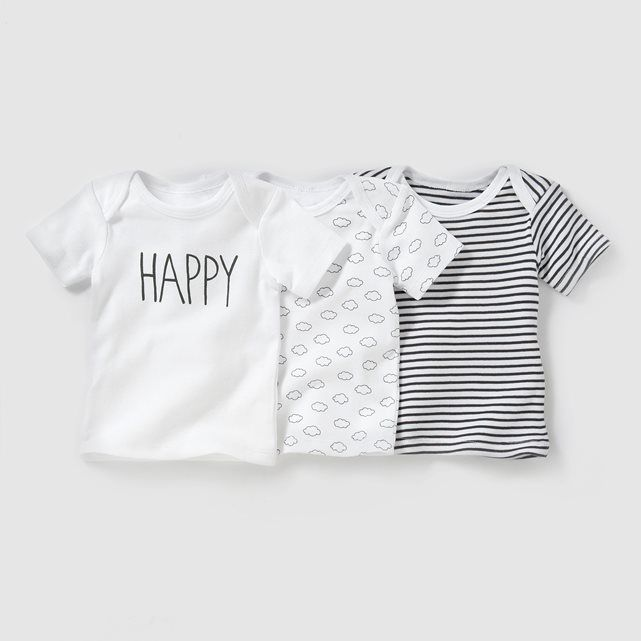 pack of 3 short sleeved t shirts birth 3 yrs baby stuff. Black Bedroom Furniture Sets. Home Design Ideas
