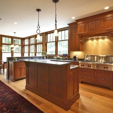 mission style kitchen cabinets | craftsman style kitchen cabinets