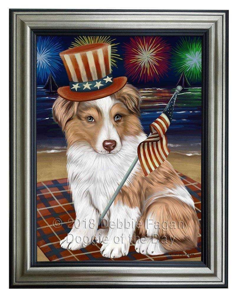 4th of July Independence Day Firework Australian Shepherd
