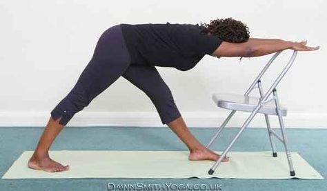 chair parsvottanasana  chair pose yoga restorative yoga