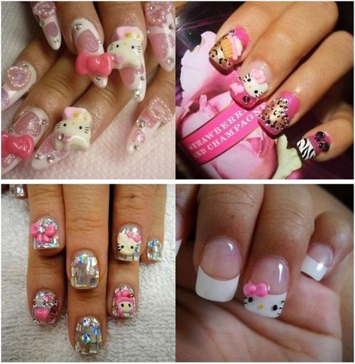 Hello Kitty Designs Nail Designs Pinterest Hello Kitty