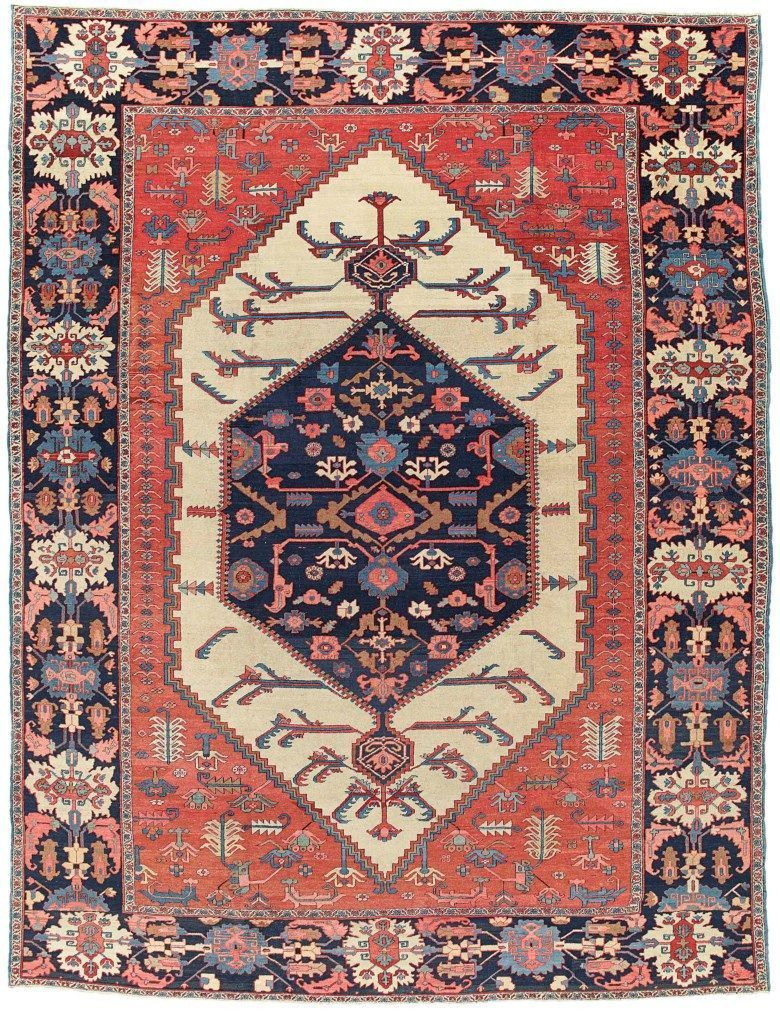 A Bakshaish Carpet West Persia Circa 1880 16 Ft 6 In X 12 Ft 10 In 502 Cm X 392 Cm This Lot Was Offered In Art Of The Islamic A Rugs On Carpet Persian Carpet Rugs