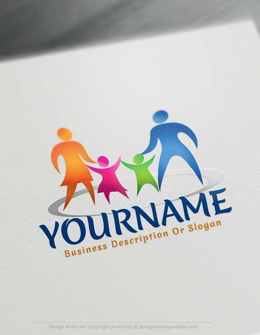 Free Family Logo Maker Online Parents Logo Design Logo Design Family Logo Logo Maker
