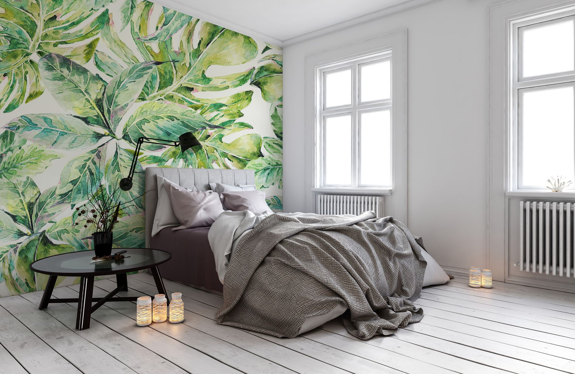 Green Palms Guest bedroom decor, Tropical bedroom decor