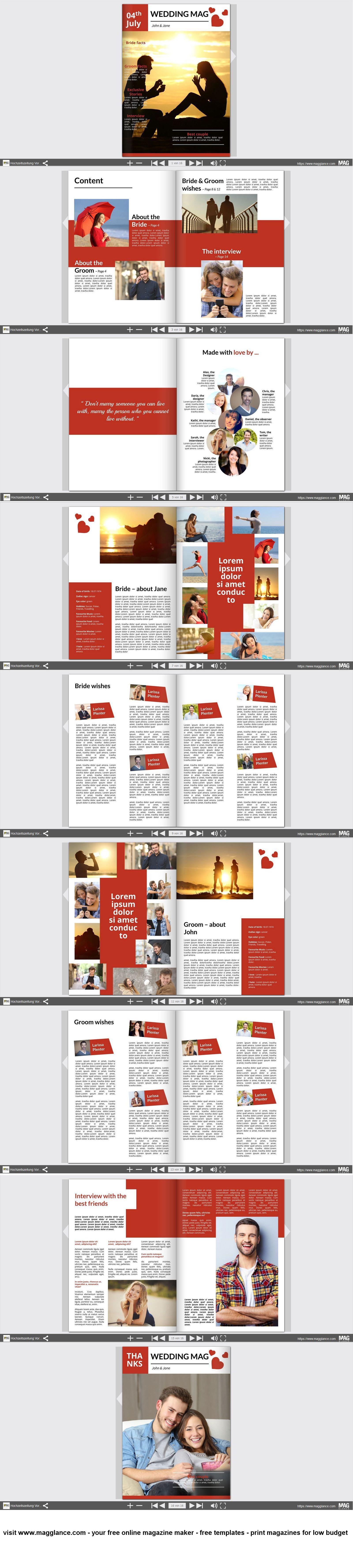 Hochzeitszeitung Kostenlos Online Erstellen Und Günstig Drucken