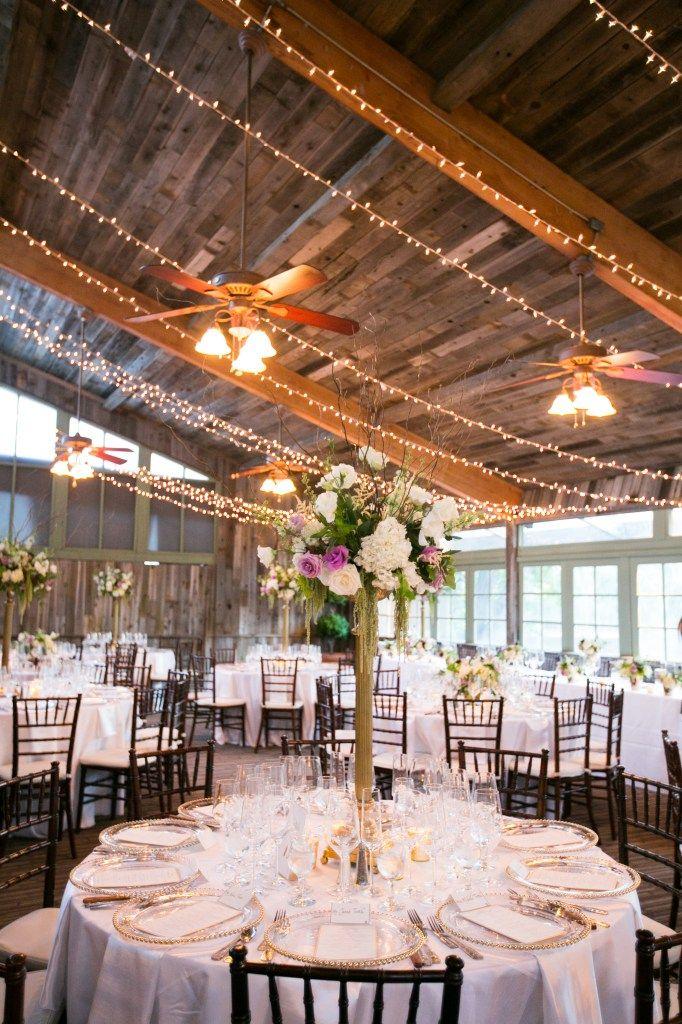 Calamigos Ranch, Malibu - indoor wedding reception. staceylynndesign.com