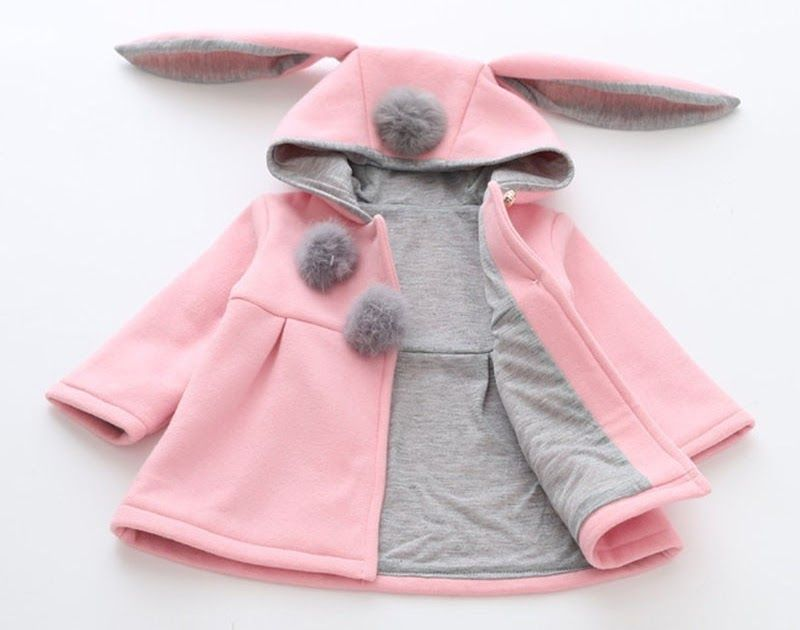 5bdc87a7e Discount !! Newborn Baby Girl Spring Children Bunny Jacket Infant ...