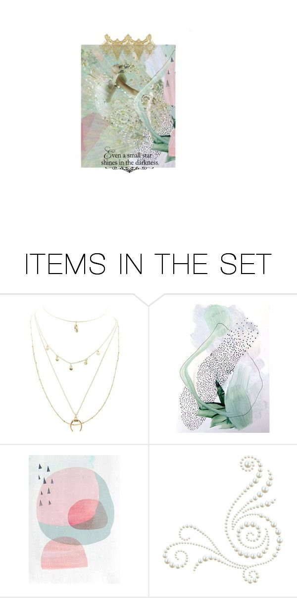 """Even a Small Star Shines in the Darkness"" by thresholdpaperart ❤ liked on Polyvore featuring art and artset"