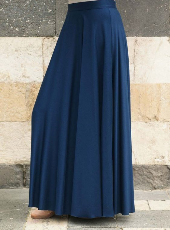 27889ce9a4 Ideal for daily wear, this full length skirt is both simplistic and elegant  in its style. With its full circle flare you'll love the sweeping statement  that ...