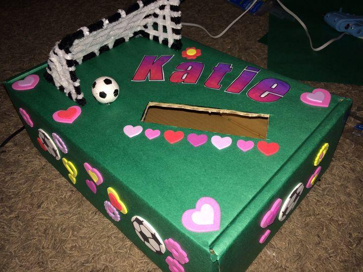 soccer valentines box valentine box pinterest box holidays and crafts - Soccer Valentine Box