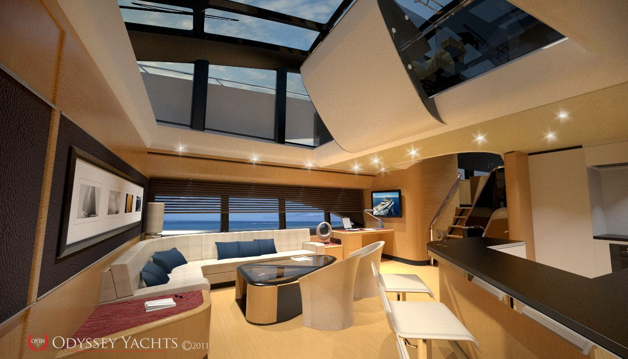 Odyssey yachts apollo dream boat pinterest cars for Interior boat designs