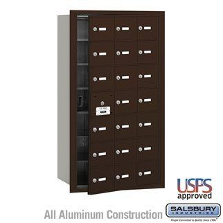4B+ Horizontal Mailbox - 21 A Doors (20 usable) - Bronze - Front Loading - USPS Access by Salsbury Industries. $661.50. 4B+ Horizontal Mailbox - 21 A Doors (20 usable) - Bronze - Front Loading - USPS Access - Salsbury Industries - 820996417459. Save 10%!