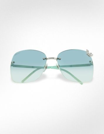 Gucci  Flora - Butterfly Rimless Sunglasses