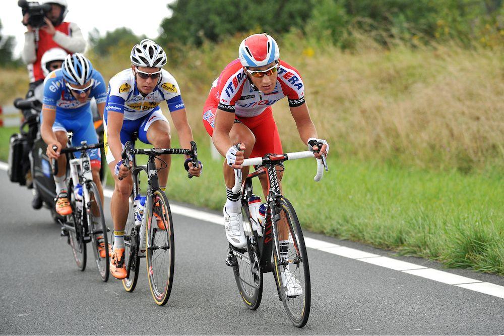 Gallery: 2014 Eneco Tour, stage 1 - An early breakaway contained Laurens De Vreese (Wanty-Groupe Gobert), Gatis Smukulis (Katusha), and Ken Van Bilsen (Topsport Vlaanderen -Baloise). Photo: Tim De Waele | TDWsport.com.