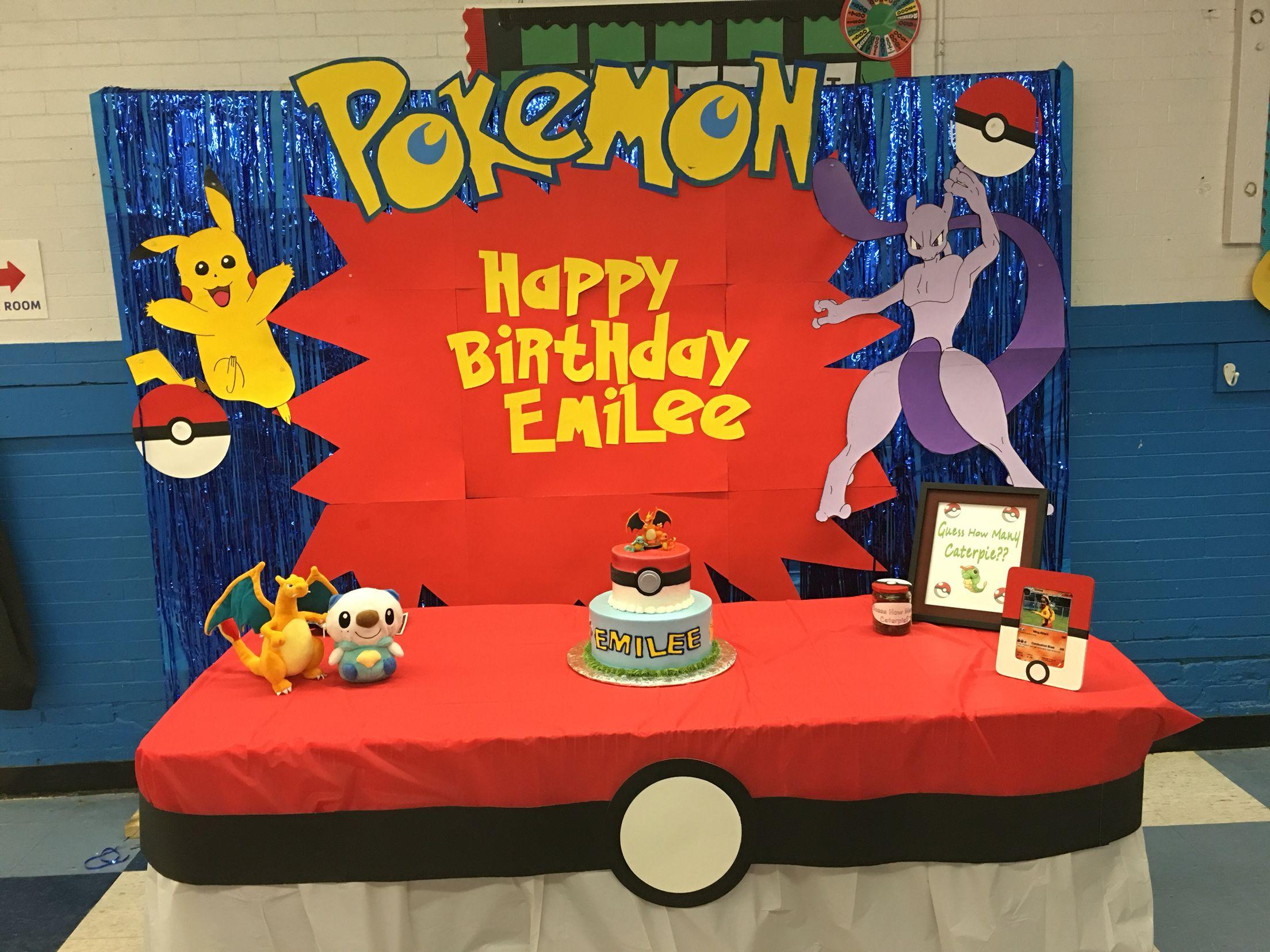 Diy Pokemon Birthday Party Pokemon Party Ideas