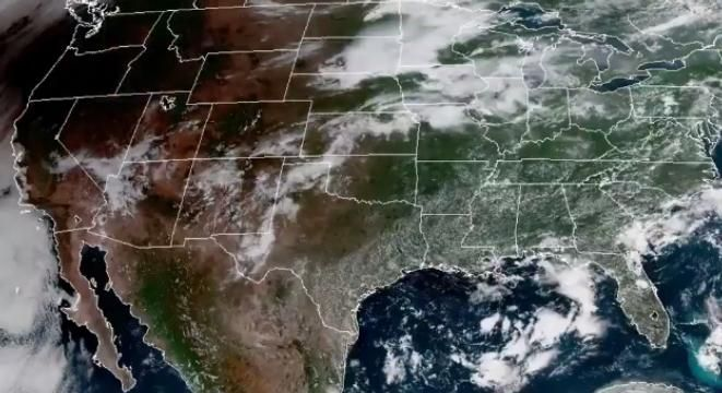 This Satellite Footage Of The Eclipse Darkening The West Coast Is - Satellite footage