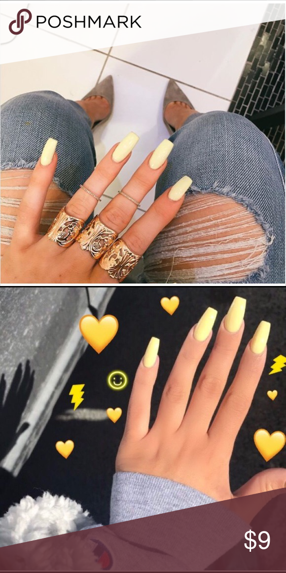 Yellow Pastel Gel Nail Polish No Need Led Light Needed Love