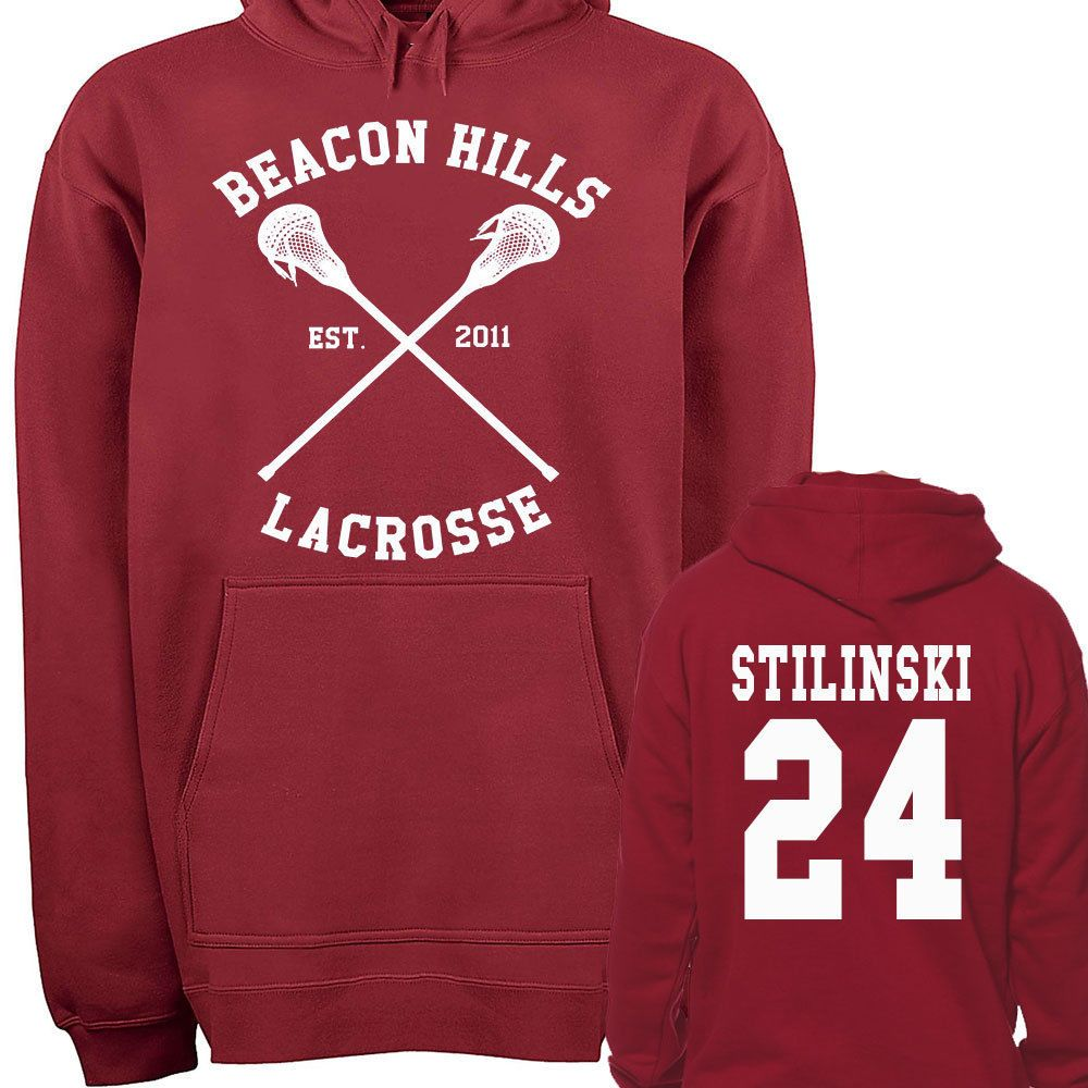 Teen Wolf Hoodie, Beacon Hills Lacrosse Hoodie, Stilinski 24, Teen Wolf Hooded Sweatshirt Size S - 4XL - Lahey, McCall, Hale, Available