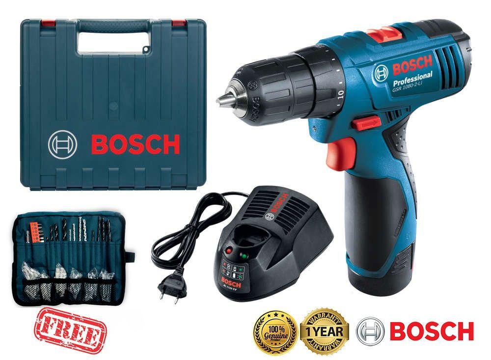 BOSCH GSR1080-2-Li 10.8V 1.5Ah Li-Ion Cordless Drill Driver Kit Carrying Bag New #Bosch