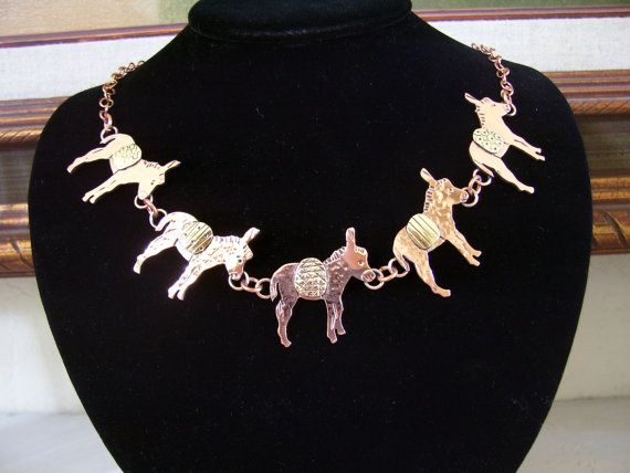 Chain of Donkeys Necklace by RestringIt on Etsy, $160.00