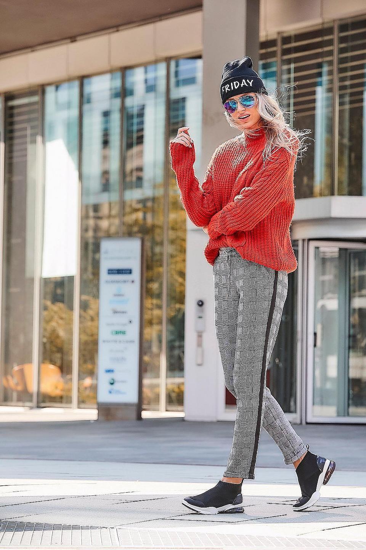 Aniston Casual Schlupfhose Mit Bindeband Online Kaufen Baur Karierte Hose Modetrends Outfit