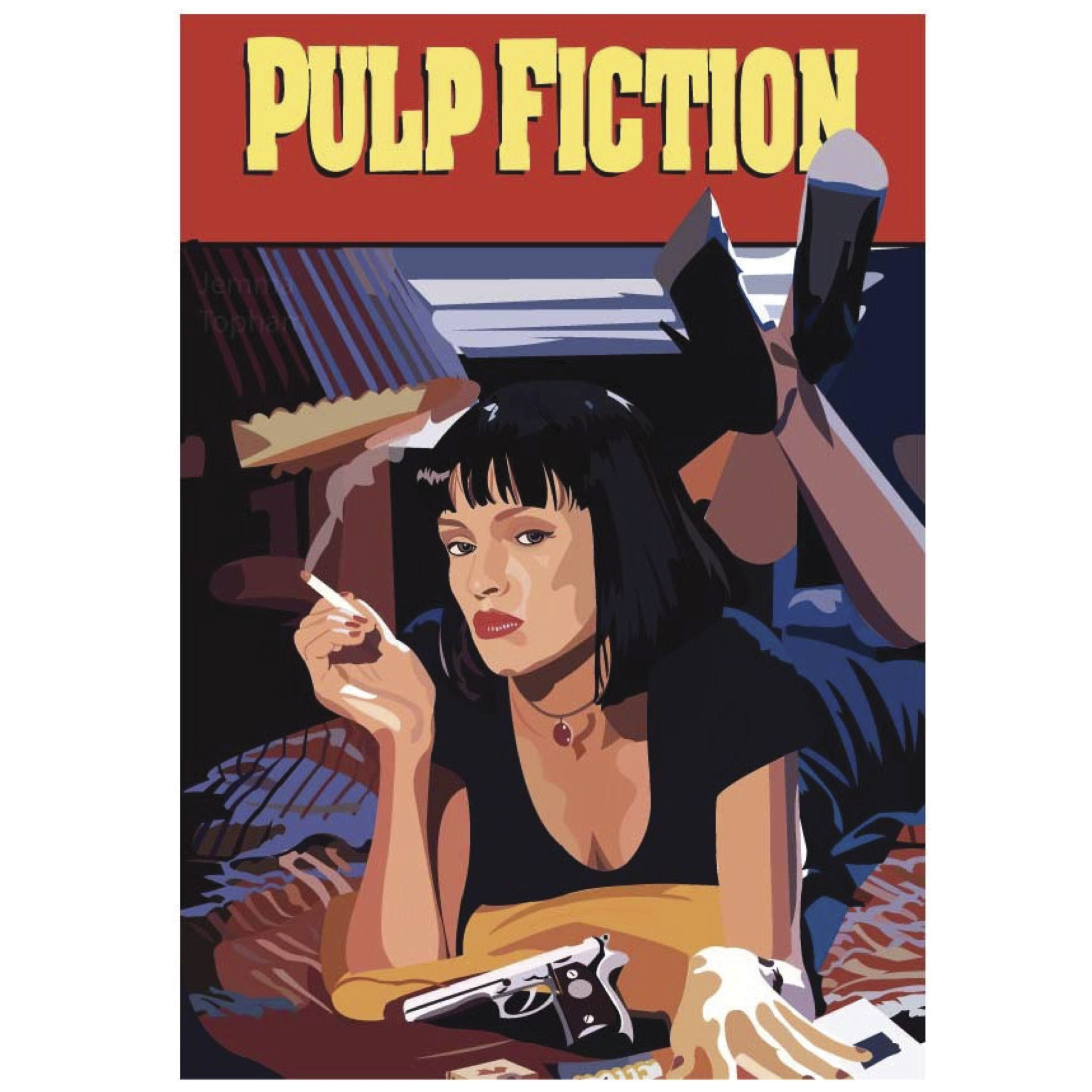 A Pulp Fiction Vector Illustration I Have Created Purely For Enjoyment And The Love Of Design