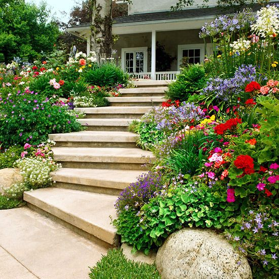 creating a garden on a slope ideas and optimal solutions for slope - Flower Garden Ideas Sloping