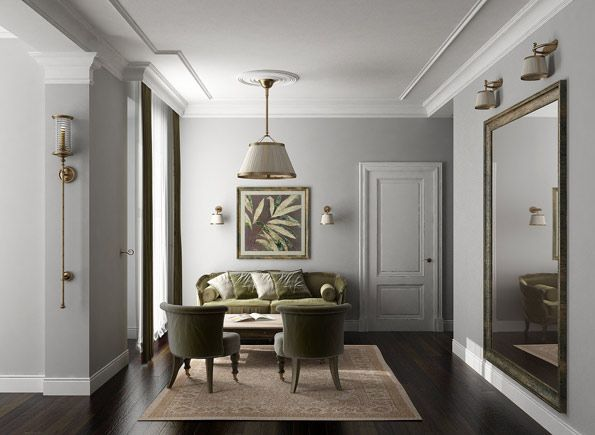 Light Grey Walls Dark Wooden Floor This Will Be The Theme If My
