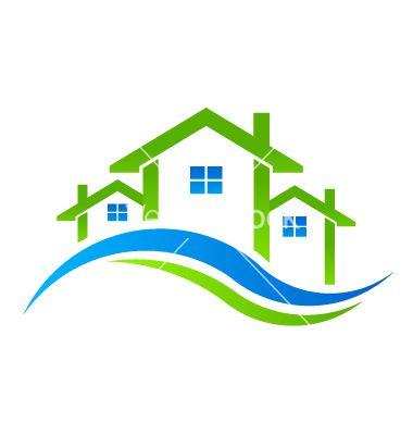 Houses real estate logo vector | Miscellaneous | Pinterest | Real ...