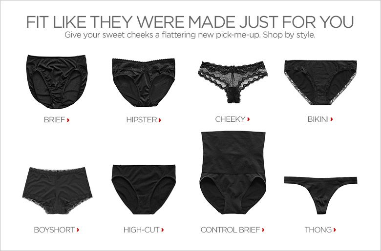 fd59753075091b5349435ae5dd63a8c4 know your panties pictorial underwear panty types and styles,List Of Womens Underwear