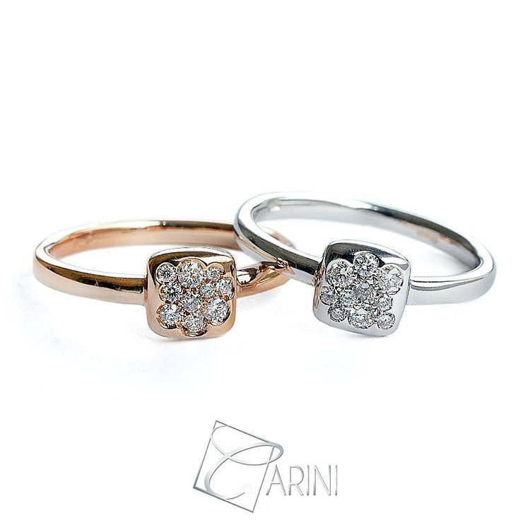 When you pair gorgeous diamonds with a perfect delicate semi-pave halo setting, the result are rings simple yet elegant, fashionable and from unique geometric shapes.. looks like slice of perfection! Follow us & tag your friends! Pave ring in white and rose gold, diamonds ct 0.15 € 698 #carinigioielli #denim #style #fashion #accessory #cool #ig #igers #lovely #cute #shop #instagram #rings #details #shopping #fashionista #etsyshopowner #springsummer17 #newcollection #italianjewelry…