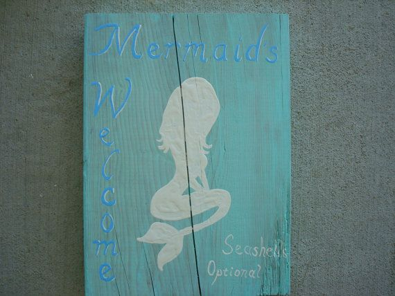 Mermaid sign by BrattyPony on Etsy