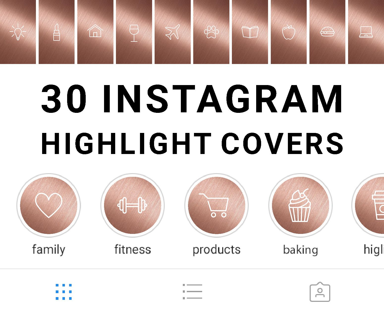 30 Instagram Highlight Icons Rose Gold Instagram Highlight Icons Instagram Instagram Business
