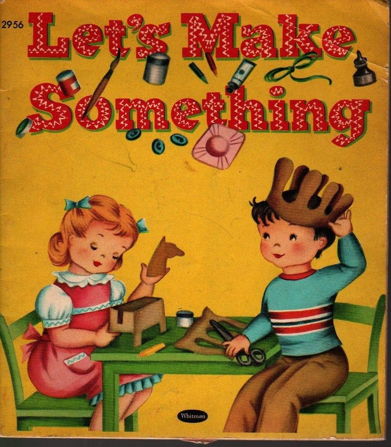 Let's Make Something * Whitman Publishing * 1953 * Vintage