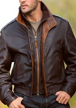 Brown And Tan Bomber Jacket Leather Jacket Men Celebrities Leather Jacket Real Leather Jacket