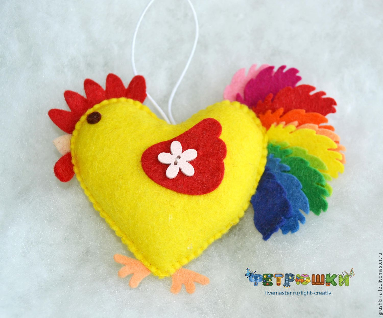 Купить Подвеска курочка из фетра - белый, из фетра, фетр, фетр Испания, сувенир из фетра, цыпленок