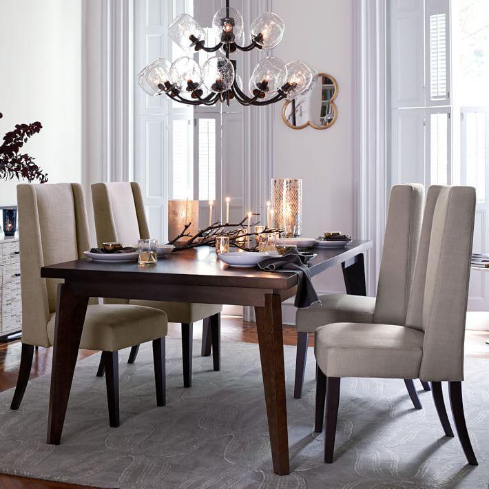 Angledleg Expandable Table Westelm  Homeformaldnpaint Extraordinary Dining Room Tables Expandable 2018