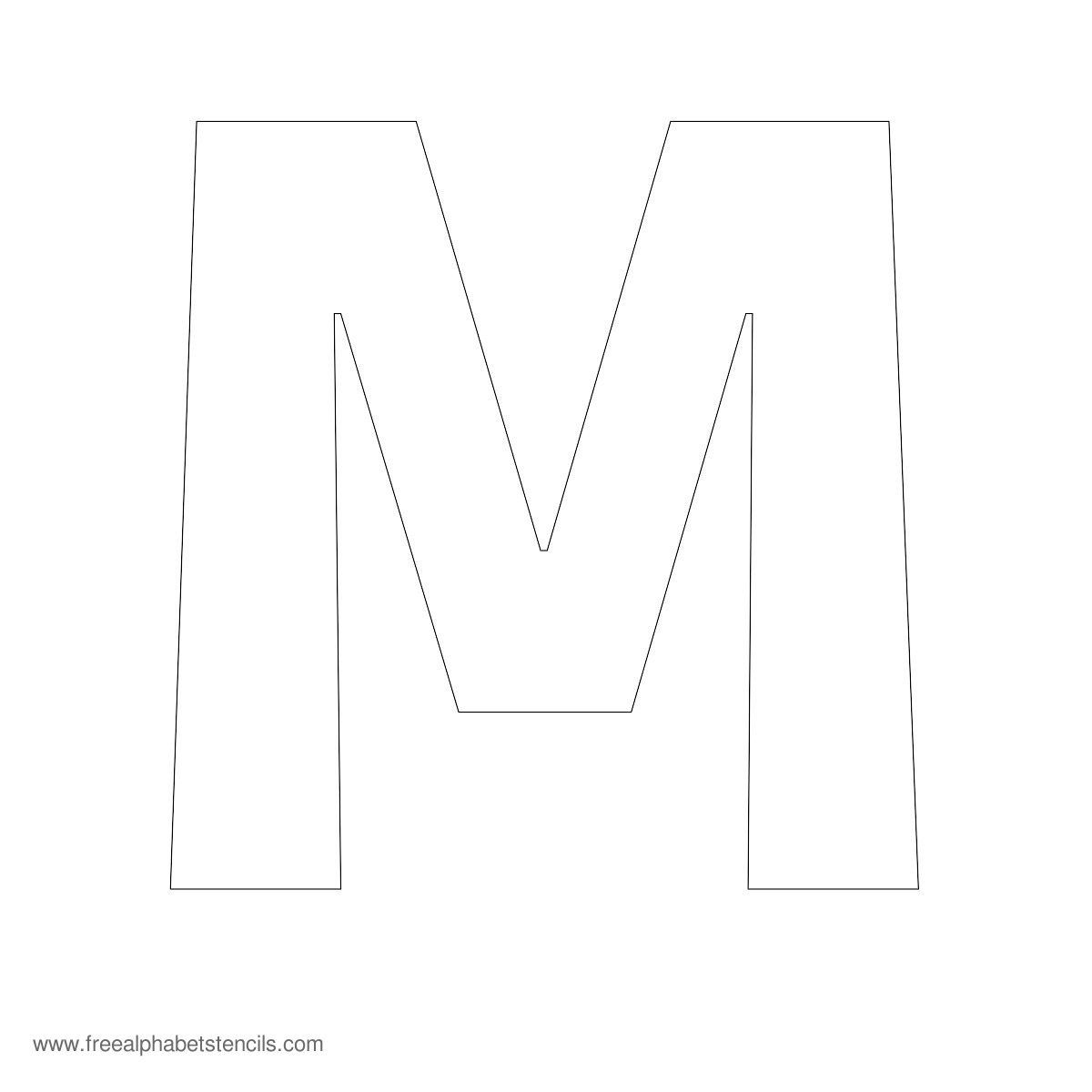 Large Alphabet Stencil M