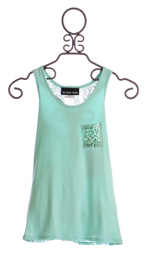 e235e49a9 Un Deux Trois Tween Girls Tank Top Lace Back $39.00 | Tween Girls ...