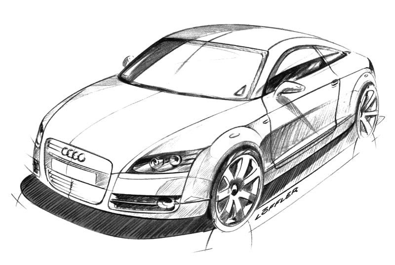 Audi Tt Design Sketch Ekamjot Car D