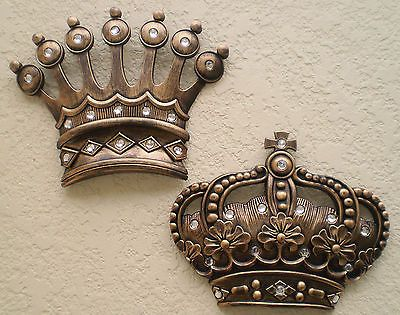 New Gold Crown Wall Decor Art Royalty King Queen Prince Princess His Hers Gifts In Home Garden Décor Plaques Signs Ebay