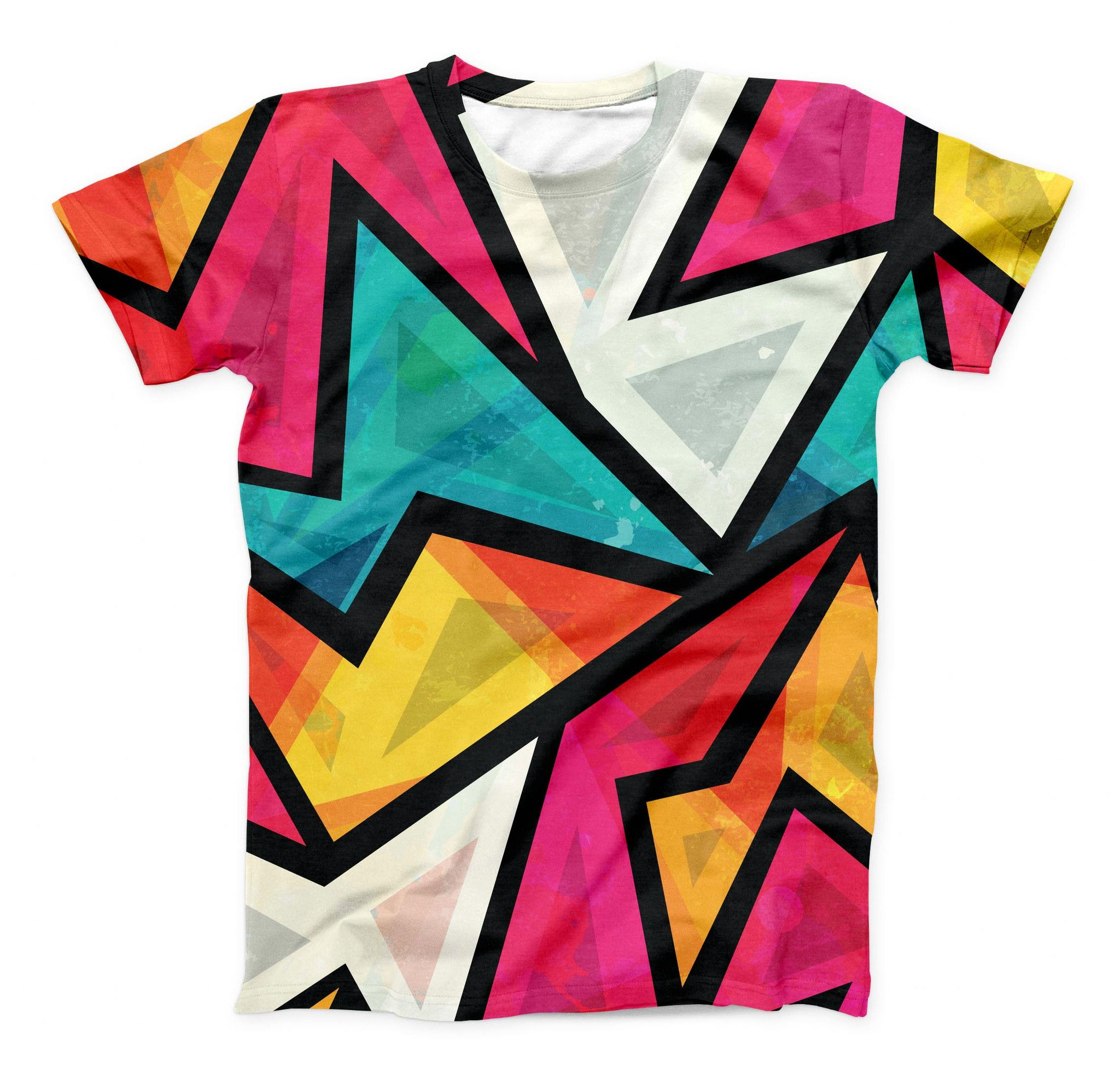 Camo Decor Childrens Short Sleeve Cool T-Shirt,Polyester,Lively Colors Retro St