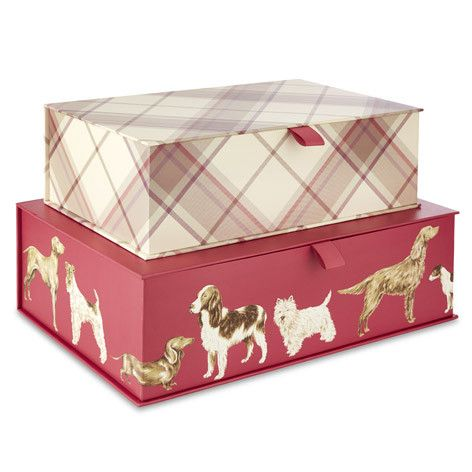 For smart storage solutions check out our set of two ribboned storage boxes one printed with our canine inspired Hunterhill design the other with a ...  sc 1 st  Pinterest & For smart storage solutions check out our set of two ribboned ...
