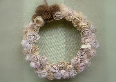 Photo of Etceteras: paper flower wreath