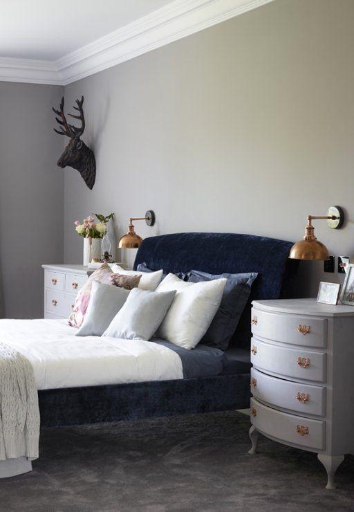 Blue Velvet Master Bedroom Surrey House Iv Contemporary