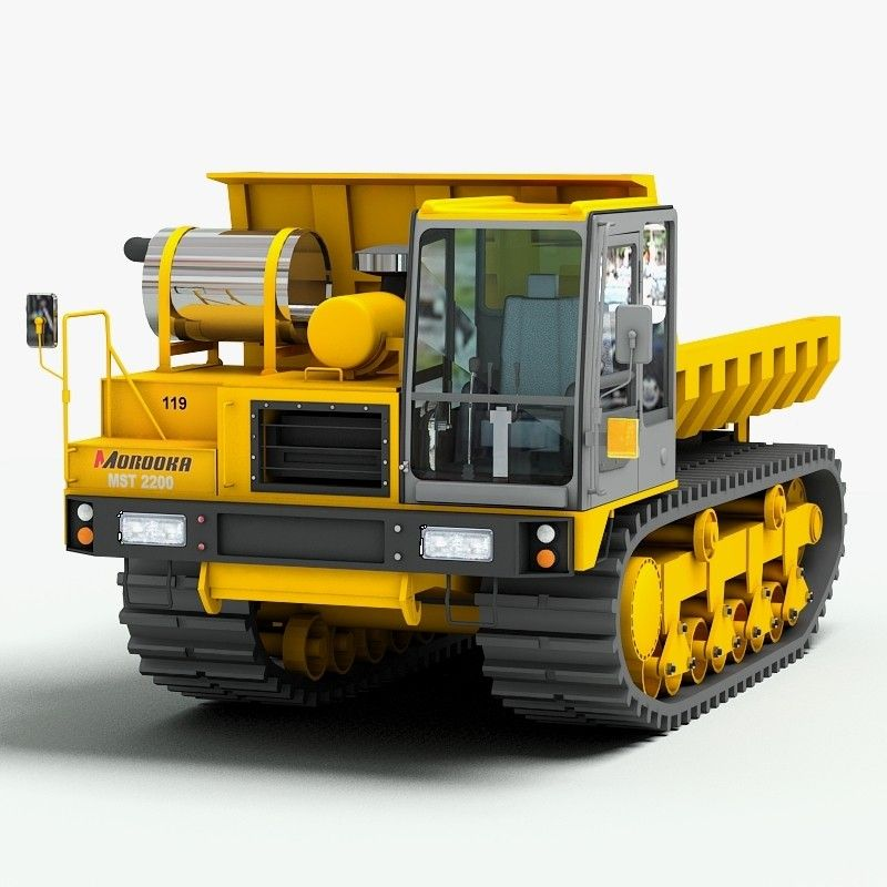 Morooka Mst 2200 Vd 3d Max Heavy Construction Equipment Construction Vehicles Heavy Equipment