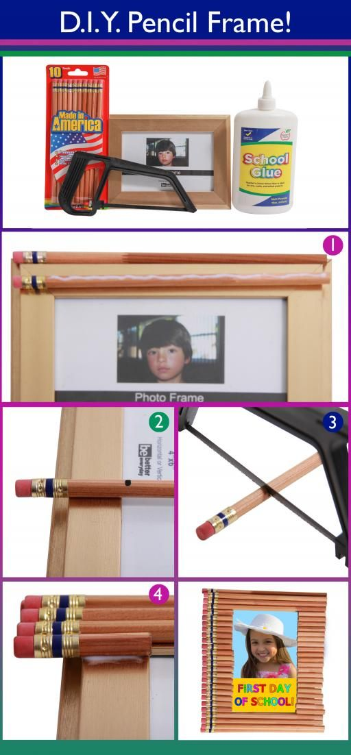 We want to share a wonderful DIY Blog for any parent or student to make: a Back to School Pencil Frame! It's a perfect gift for grandparents, parents, or just to put up on the shelf to mark the beginning of a new year! Have a safe, fun, and memorable year from your friends at 99 Cents Only Stores!